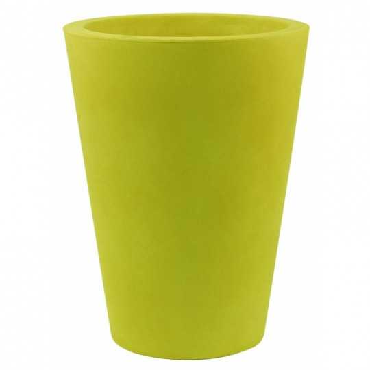 vONDOM HIGH CONE Pistachio Flower Pot with Lacquered Finish