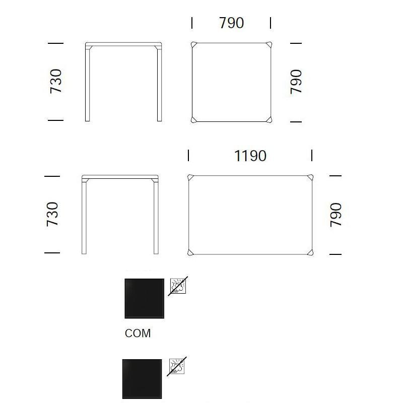 Tables pour restaurant - Mobilier restauration - VEGA