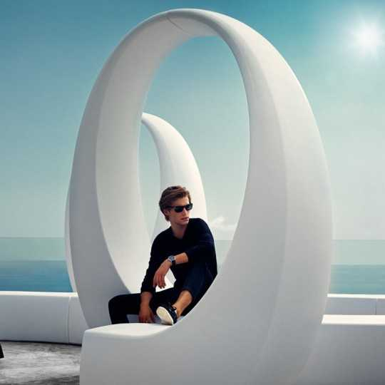 AND bench combinations at a poolside by Vondom