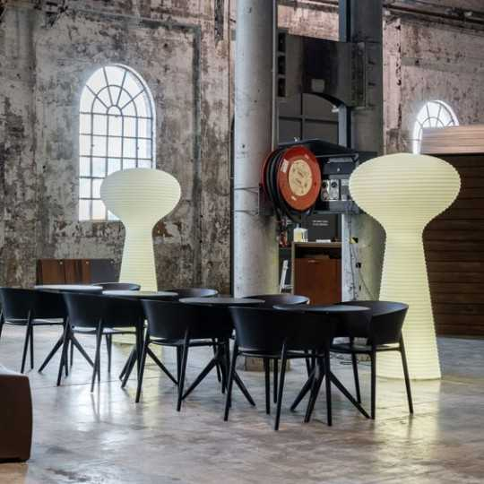 Bloom Luz Giant Lamps by Vondom in a trendy restaurant