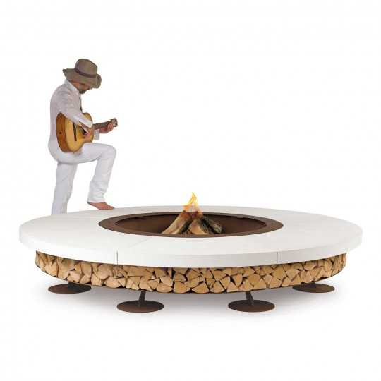 Ercole White 250 - Outdoor Fire Pit Concrete - AK47