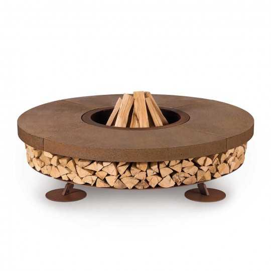 Ercole Brown 150 - Outdoor Fire Pit Concrete Brown - AK47