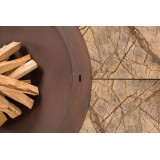 Ercole Rainforest Brown 150 - Outdoor Fire Pit Marble Brown - AK47