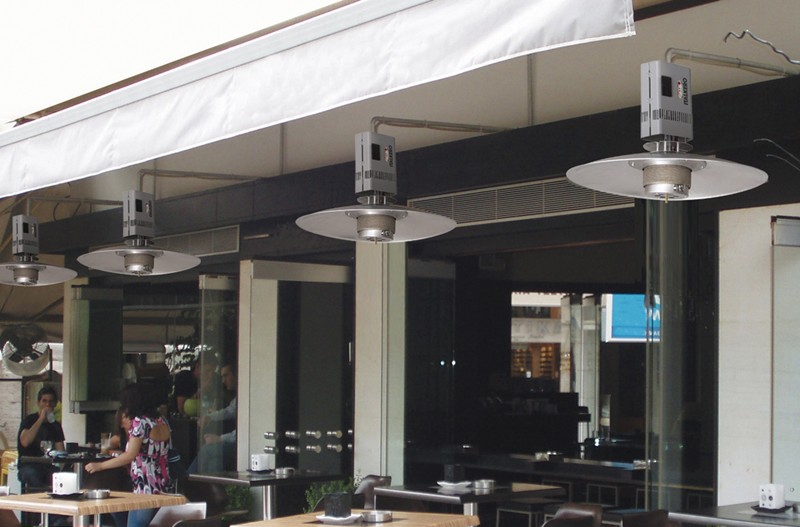 Natural Gas Outdoor Hanging Patio Heater Designs
