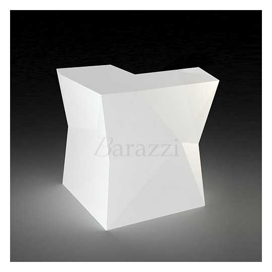 LED White Angle Bar Counter FAZ by Vondom