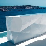 Faz Double Bar with tabletop (optional) - Terrace Lacquered Counter - Vondom