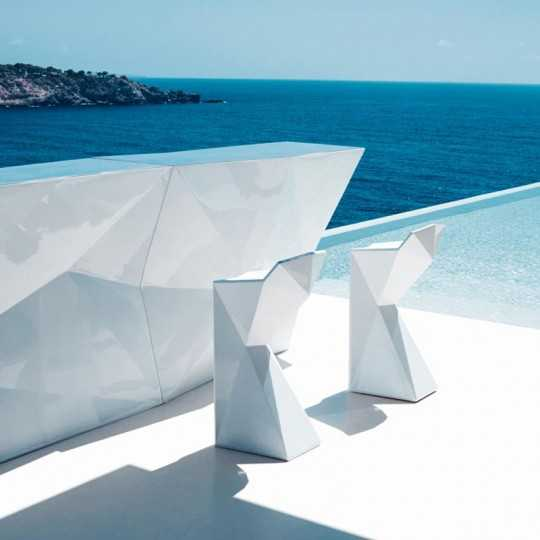 Faz Lacquered Side Bar - Lounge Bar Counter by Vondom