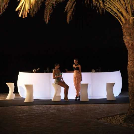 Bright Bar Fiesta 180 LED White by Vondom. Highly resistant, suitable for outdoor use