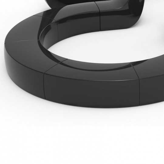 Lacquered And Banco Bench by Vondom (shown here in black)