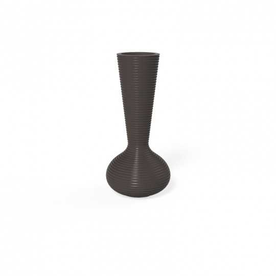 Bloom Indoor and Outdoor Planter by Vondom with Lacquered Finish (shown here in bronze color)