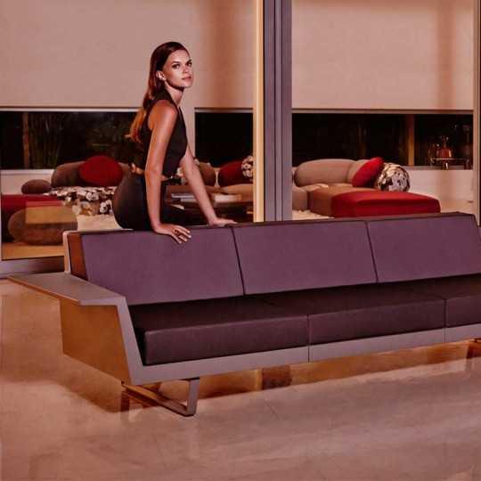 Flat A Clean Design Outdoor 3-seat Sofa by Vondom