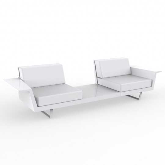 Flat B 2 seater Outdoor Sofa with Table and Lacquered Finish by Vondom