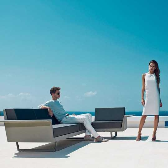 Outdoor DELTA Corner Sofa by Vondom (previously FLAT Sofa)