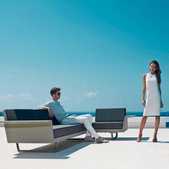 Outdoor Flat Corner Sofa by Vondom