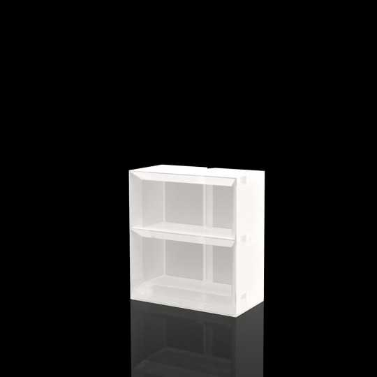 Vela Shelving System 100 LED White - Bright White Bar Shelf by Vondom