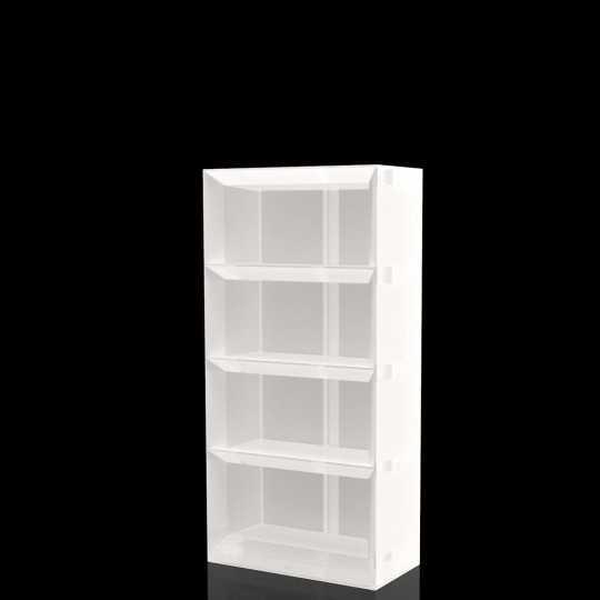 Vela Shelfving System 200 LED White - White Light Bar Shelves by Vondom