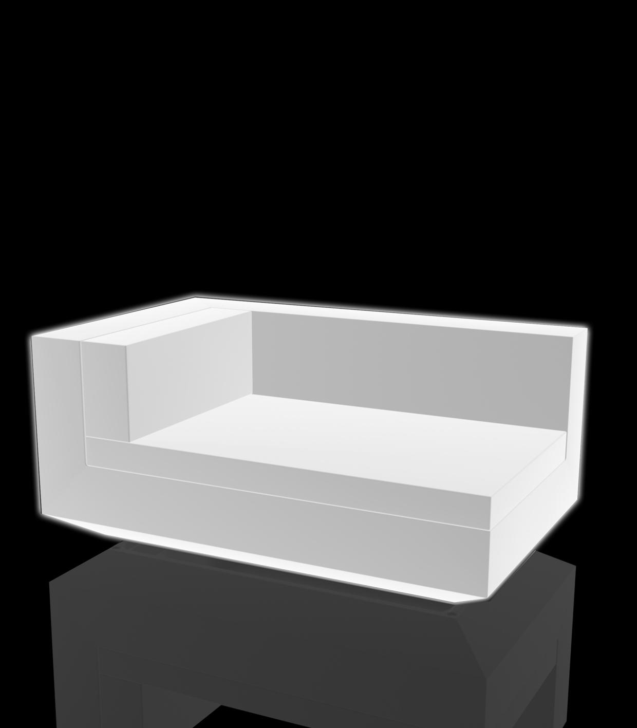 lighting chaise lounge adjustable vela sofa chaiselongue left module by vondom. Black Bedroom Furniture Sets. Home Design Ideas