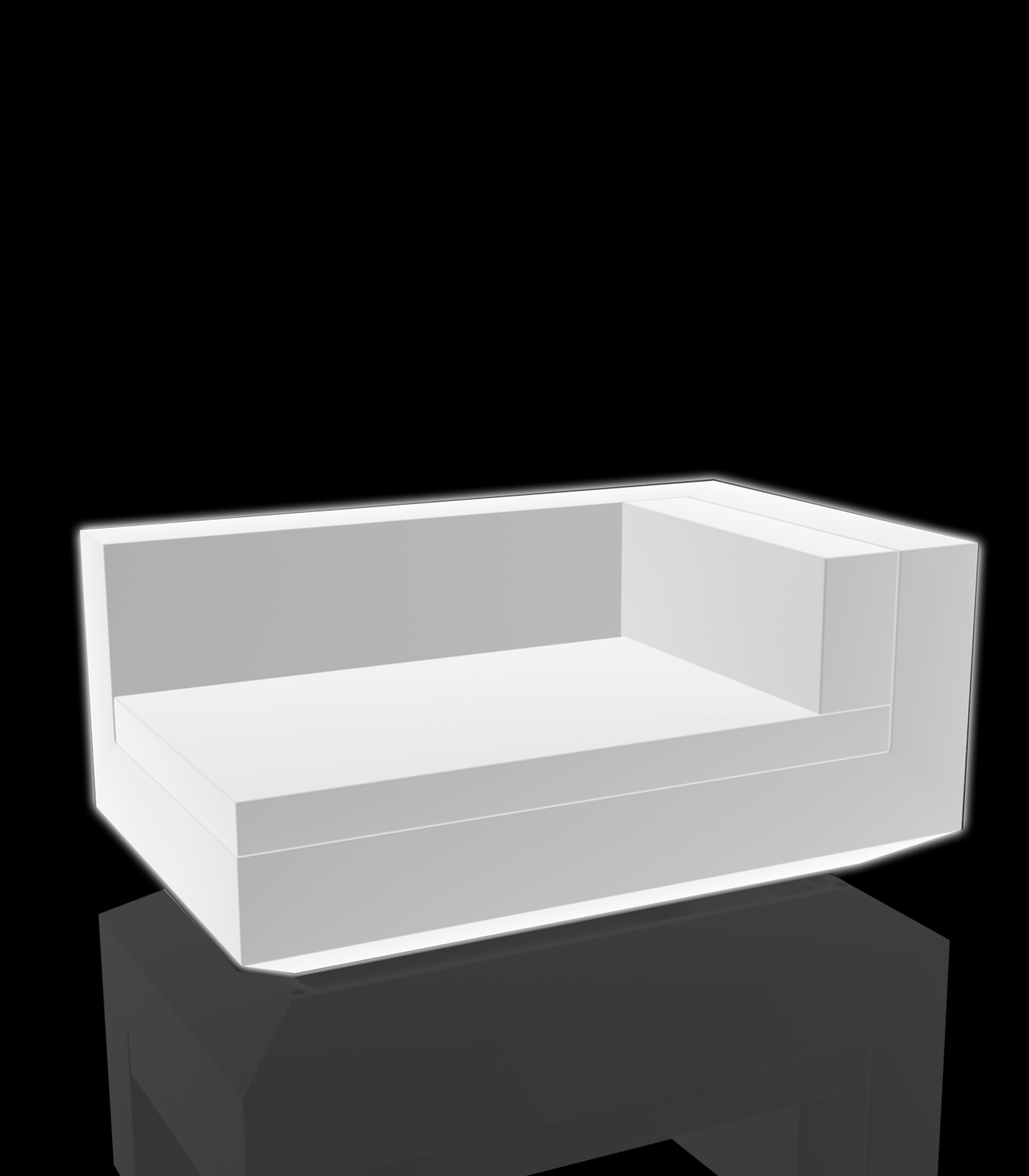 white lighting deck chair right adjustable vela sofa by vondom. Black Bedroom Furniture Sets. Home Design Ideas