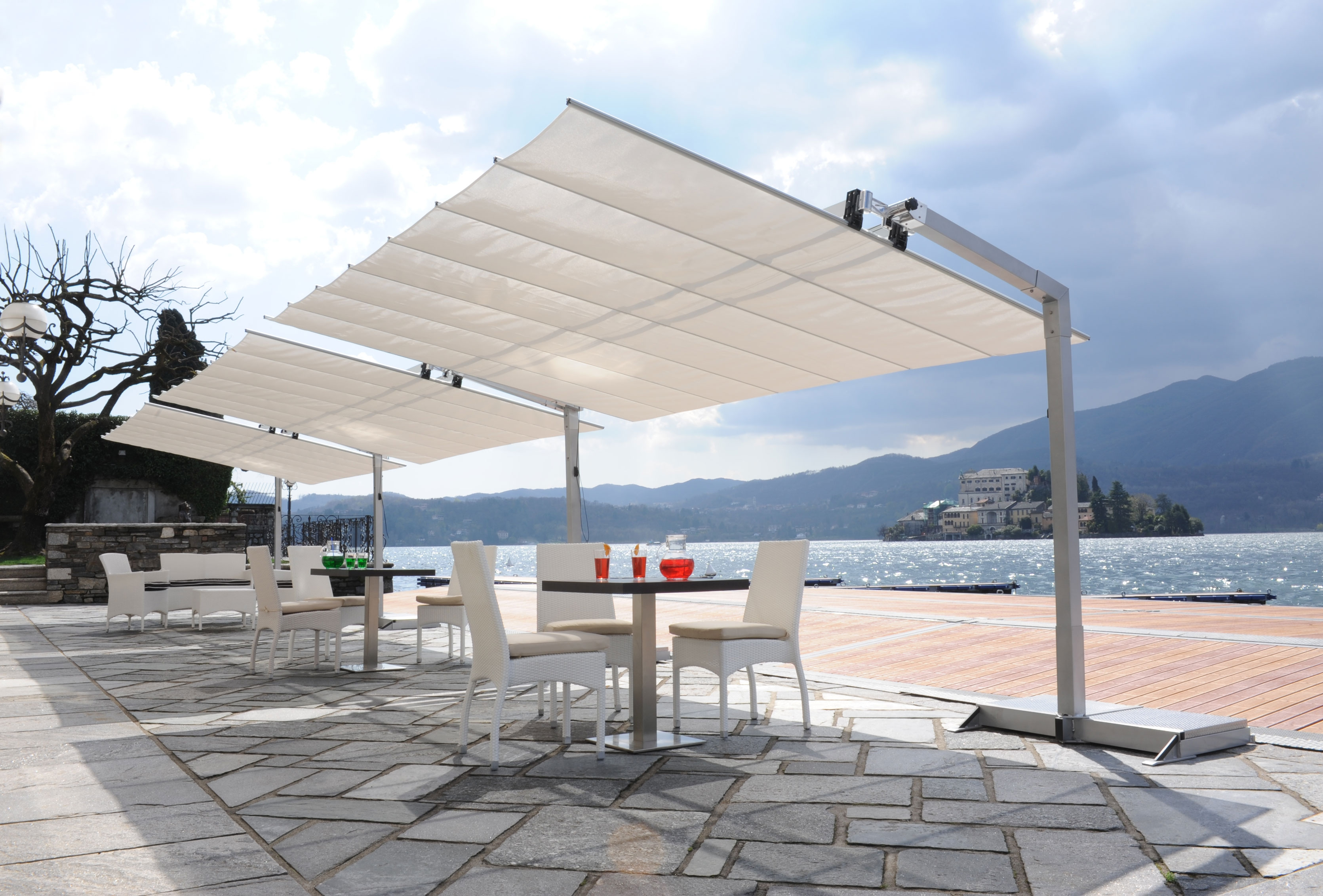 freestanding foto unica canopy motorised electric awning index awnings med canopies retractable gibus