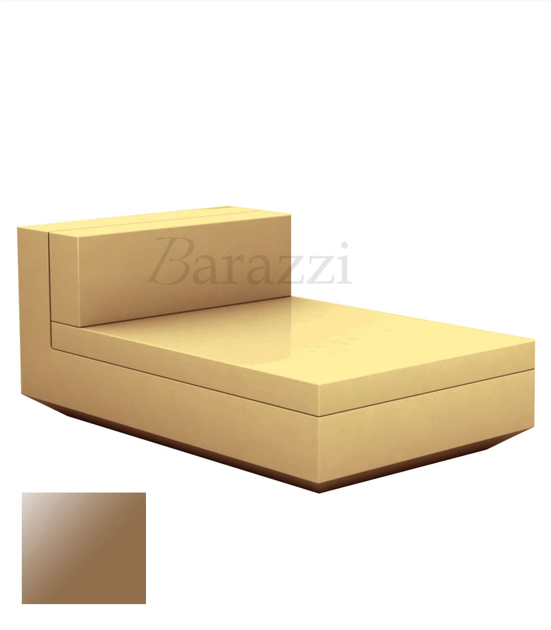 outdoor lacquered and armless chaiselongue vela sofa by vondom