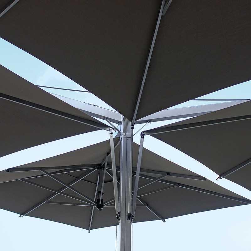 Quadruplo European Quadruple Offset Patio Umbrella by Fim