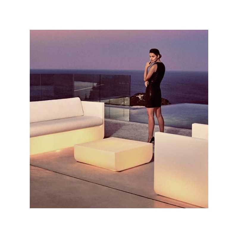 Outdoor ULM Luz Coffee Table and Sofa with White Led Light - Vondom