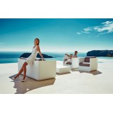 Coffee Table and Sofa ULM RGB switched off by Vondom Outside