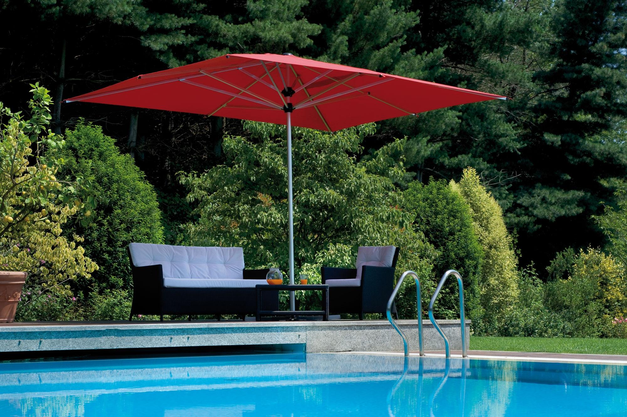doppio parasol carr double pied central fim barazzi. Black Bedroom Furniture Sets. Home Design Ideas