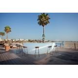Fiesta Outdoor Bar (180 and Curva Matt modules) by Vondom at Marina Beach Club Valencia in Spain