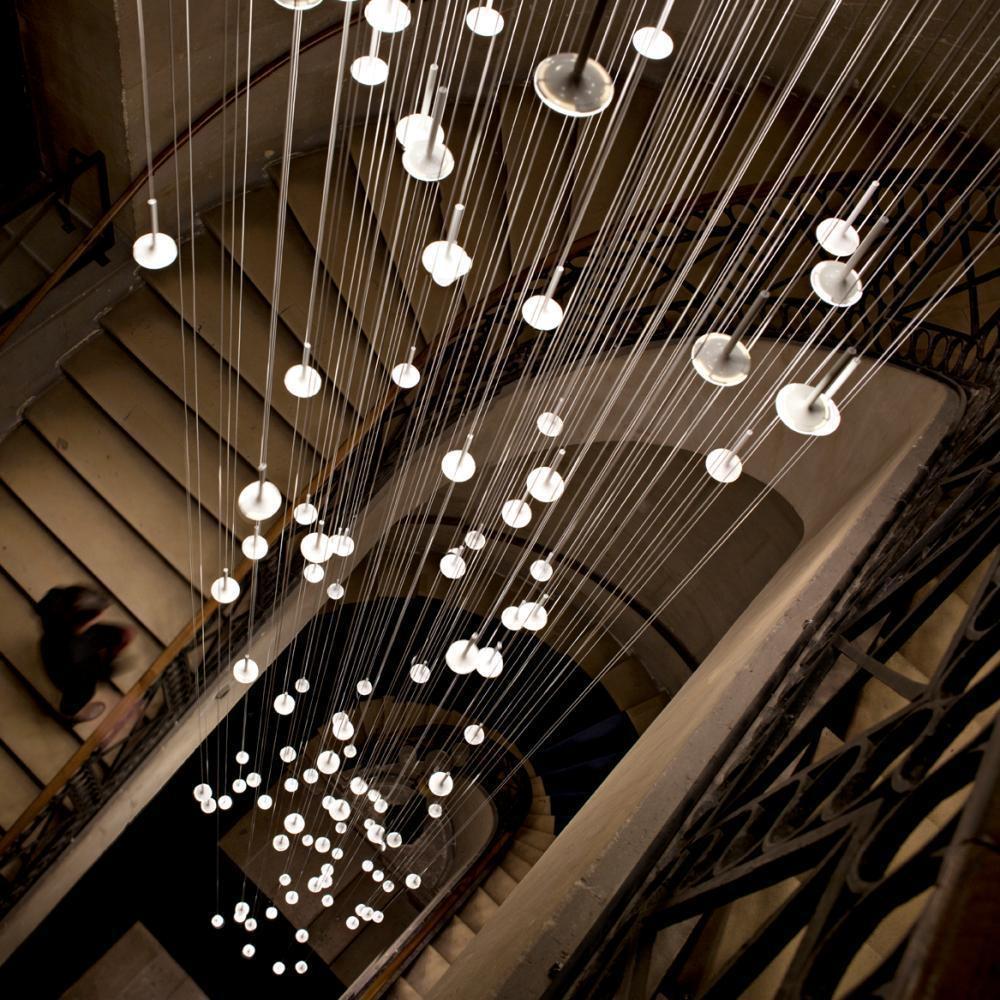 I.RAIN 137 Shower of Light Pendant Lamp with 137 OLED Lights