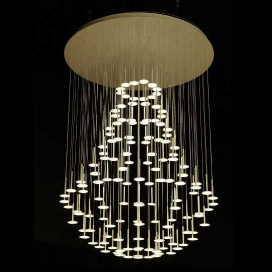 IRAIN Montgolfiere Pendant Light with Chandelier Shape and OLED Lights by BlackBody