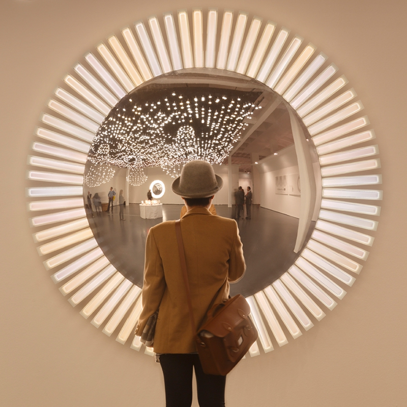 Lucky Eye L Giant Wall Lamp With Starburst Oleds And Mirror