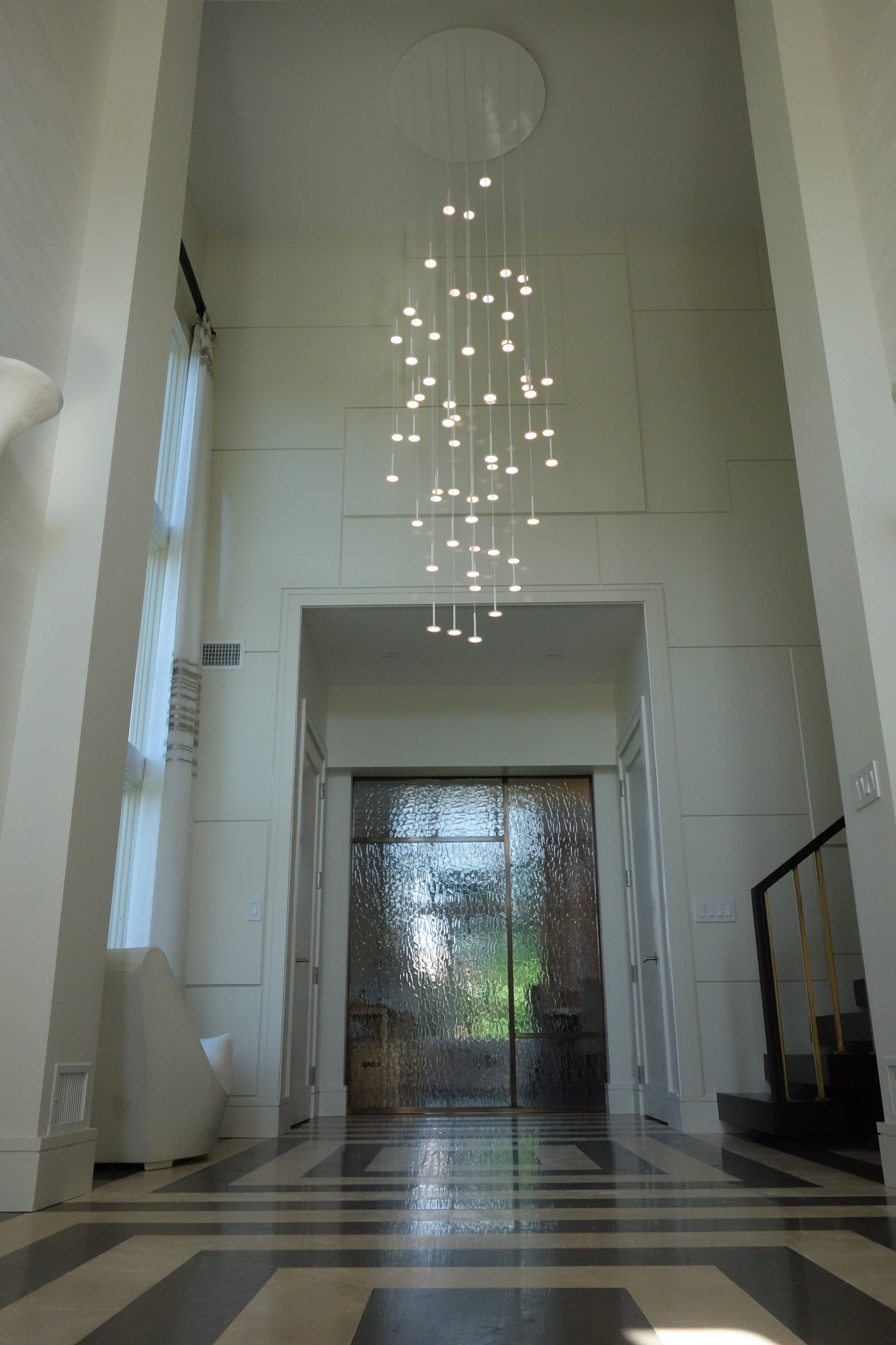 Irain 61 Cascade Of Light Hanging Chandelier With 61 Oleds