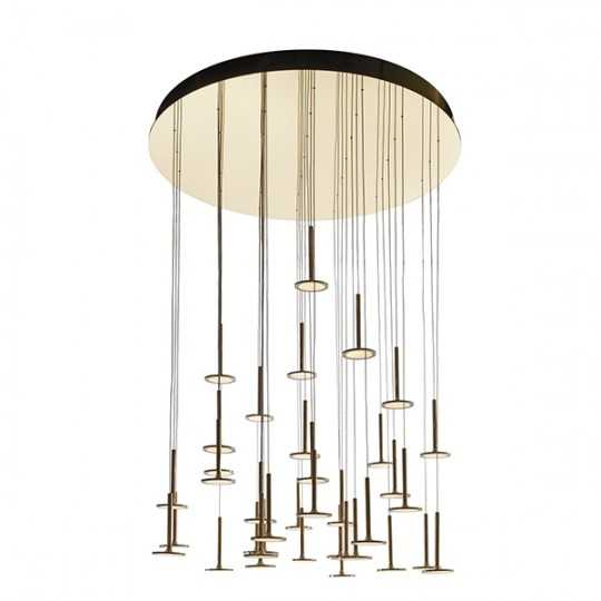 IRAIN 37 Hanging Chandelier with 37 OLED Lighting Sources