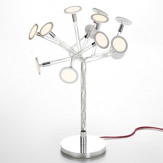 BONSAI Tree-Shaped Table Lamp with Blown Glass Structure and OLED Lights