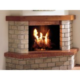 Wood Fireplace transformed into a Gas Fireplace with Focus 60. Log set sold separately