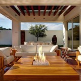 Focus 60 Outdoor Gas Firepit System with Visible Flame