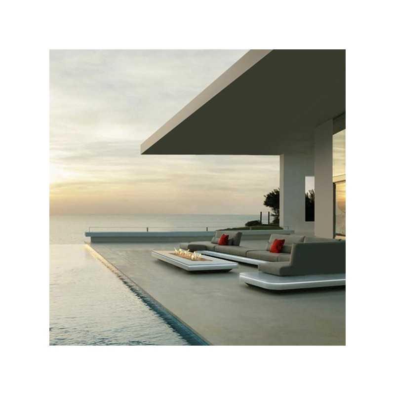 Focus 80 Contemporary Design Rectangular Outdoor Gas Fireplace
