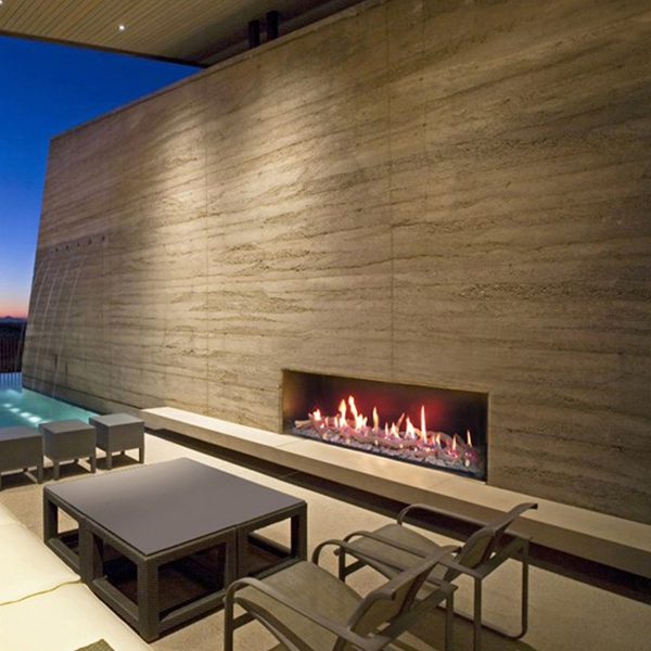 Focus 130 Ribbon Outdoor Gas Fireplace 130cm