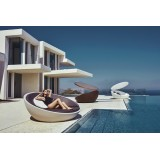 ULM Daybed Vondom with and without Parasol Polyethylene Matt and Lacquered