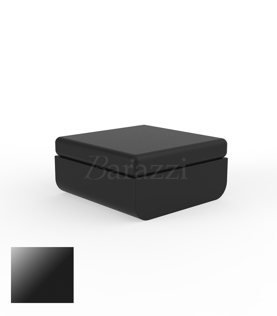 ulm pouf lacquered outdoor polyethylene ottoman with. Black Bedroom Furniture Sets. Home Design Ideas