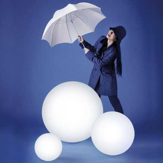 GLOBO 70 Large Luminous Ball Floor Lamp 70 cm Diameter Timeless Design