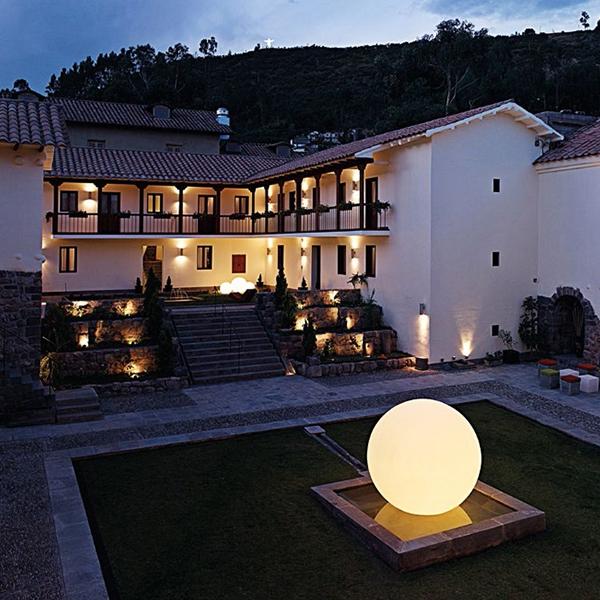 Globo 200 giant outdoor moon floor lamp 2m diameter with for O moon outdoor floor lamp