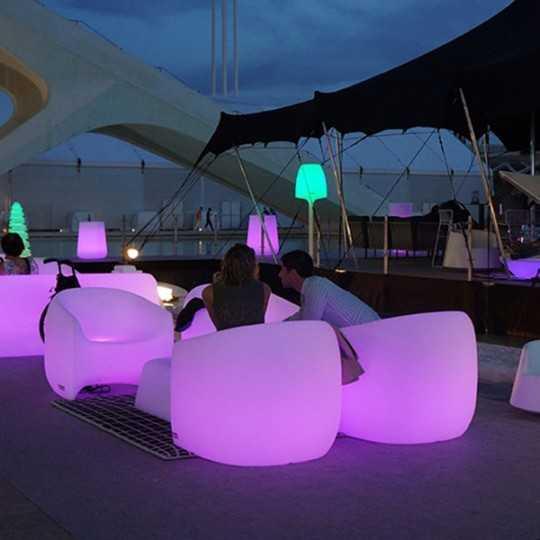 BLOW Armchair RGB - Outdoor Polyethylene Chair with Multicolor LED Light