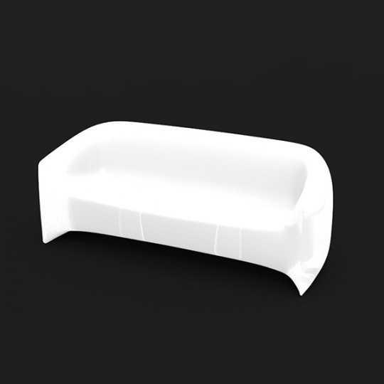 BLOW White LED Sofa by Vondom