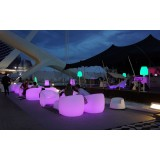 Garden Furniture with Multicolor Led Light Sofa, Armchair, Coffee Table Blow by Vondom