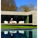 Blow Collection by Vondom at Poolside Table Armchair and Couch with Led Light (switched off)