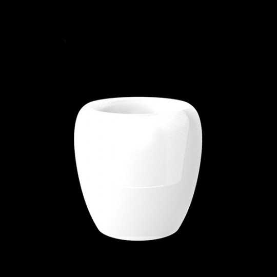 BLOW Pot 40 - White LED Polyethylene Flower Pot