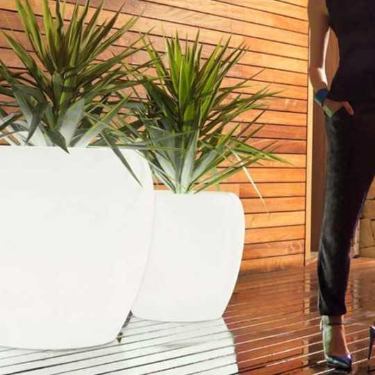 BLOW Pot Luz 60 - Design Outdoor Polyethylene Planter with White LED Light