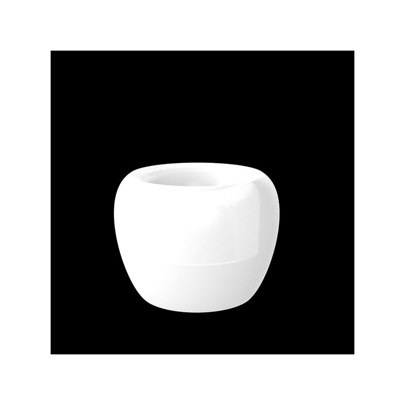 BLOW Pot 75 LED White - Giant Design Outdoor Polyethylene Pot with White LED Light